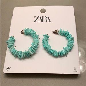 Zara Shell Hoop Earrings